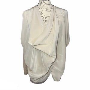All Saints Wrap Light Weight Sweater Soft Pink S